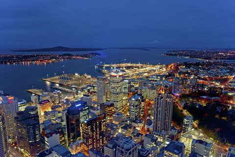 Night view from SkyTower