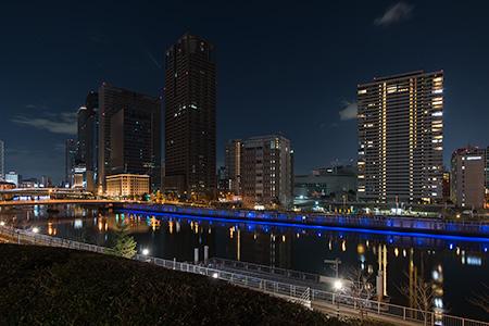 ABC River Deckの夜景