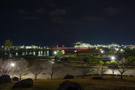 網干なぎさ公園の夜景