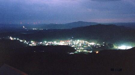 あぶくま洞展望台の夜景
