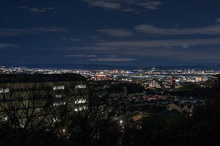阿武山 見晴らし台の夜景