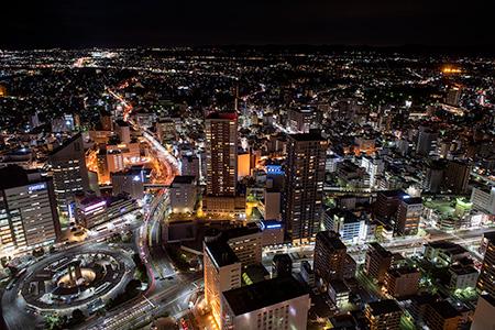 アクトタワー展望回廊の夜景