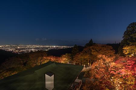 大山阿夫利神社の夜景