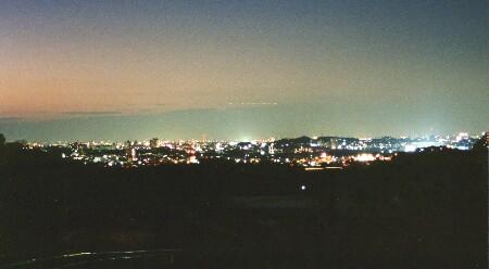 愛知産業大学付近の夜景