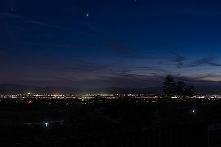 会津一望の丘の夜景