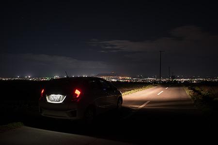 赤川桔梗線の夜景