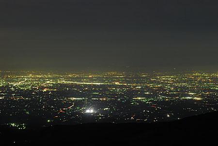 大パノラマ夜景展望台の夜景
