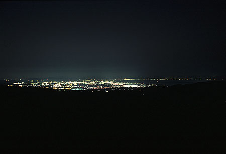 赤松眺海 展望駐車場の夜景