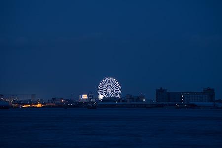 暁ふ頭公園の夜景