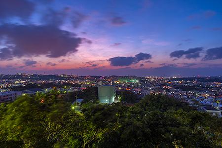 明道公園の夜景
