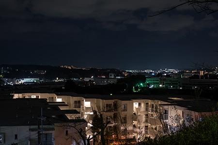 秋葉台公園の夜景