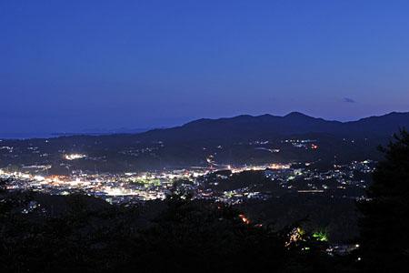 安波山 ほしのてらすの夜景