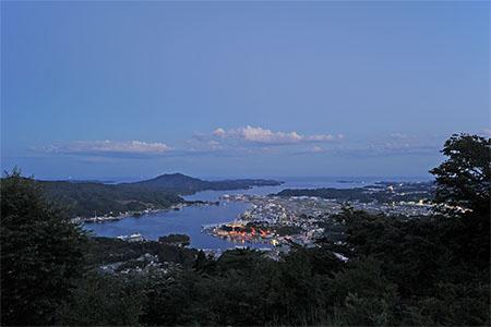 安波山 山頂の夜景