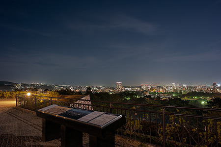 青葉城址(仙台城)の夜景