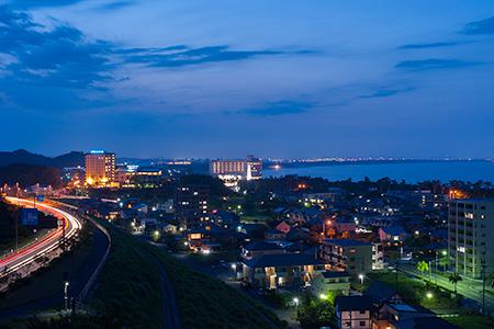 青島パーキングの夜景