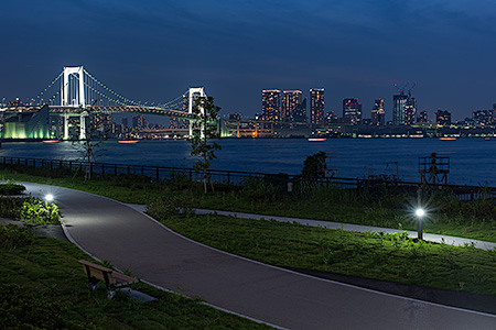 有明北緑道公園の夜景