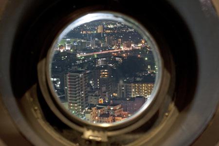 水戸芸術館シンボルタワーの夜景