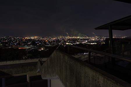 北九州市立美術館の夜景