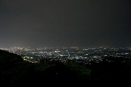 アルプス公園の夜景