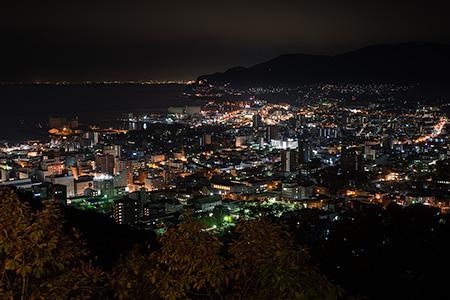 旭展望台の夜景