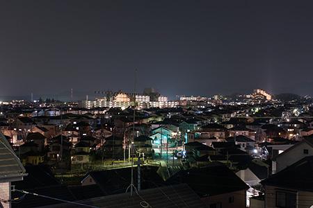 朝日ヶ丘富士見公園の夜景