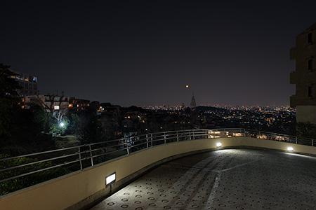 朝日ヶ丘北公園の夜景