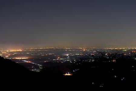 朝日峠展望公園 表筑波スカイラインの夜景
