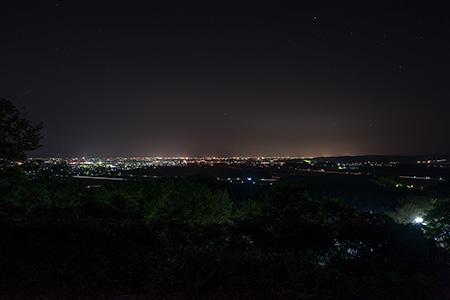 朝日山展望台の夜景