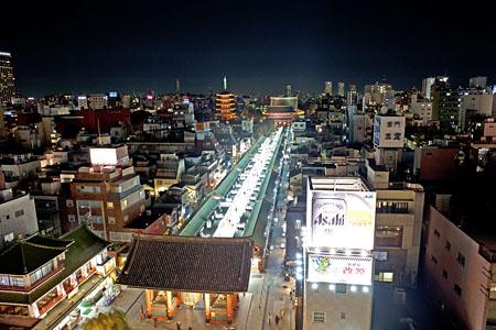 浅草文化観光センター 展望テラスの夜景