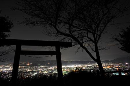 浅間神社の夜景