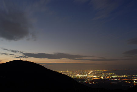 朝熊山展望台 伊勢志摩スカイラインの夜景