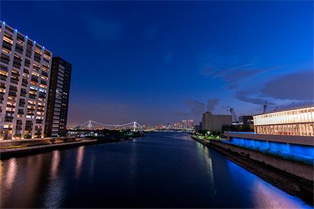 朝潮小橋の夜景