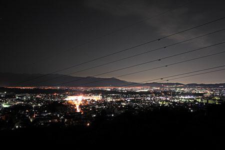 南足柄小田原道路の夜景