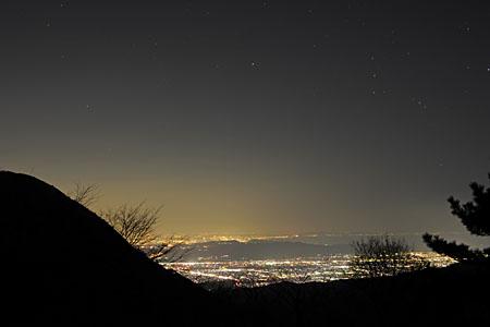 足柄万葉公園の夜景