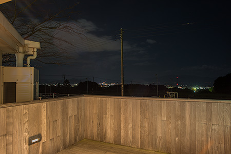 愛鷹PAの夜景