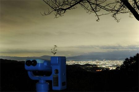 愛宕前展望台 嵐山高雄パークウエイの夜景
