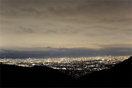 愛宕前展望台近く 嵐山高雄パークウエイの夜景