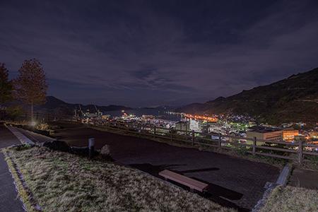 愛宕山団地 展望公園の夜景