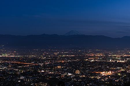 愛宕山(山梨県科学館 展望テラス)の夜景