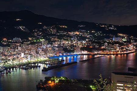 熱海城の夜景