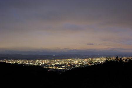 菖蒲ヶ丘展望台 嵐山高雄パークウエイの夜景