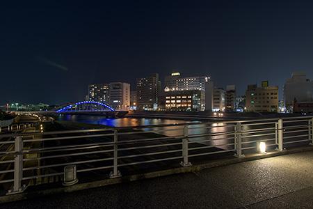 あゆみ橋の夜景