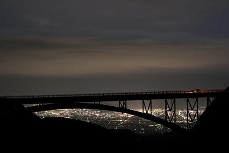 不動沢橋 磐梯吾妻スカイラインの夜景