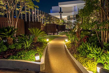 横浜ベイクォーター Bay Gardenの夜景