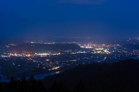 紅取丘の夜景