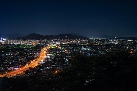 弁天山公園の夜景