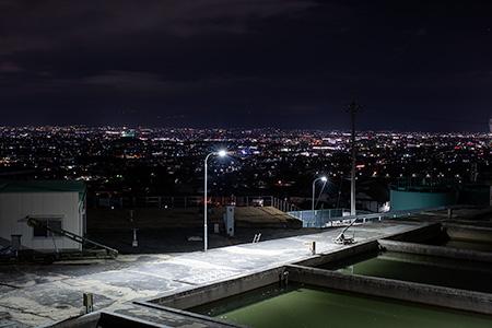 別所池の夜景