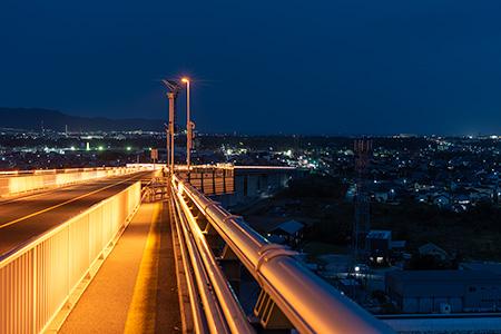 ベタ踏み坂(江島大橋)の夜景