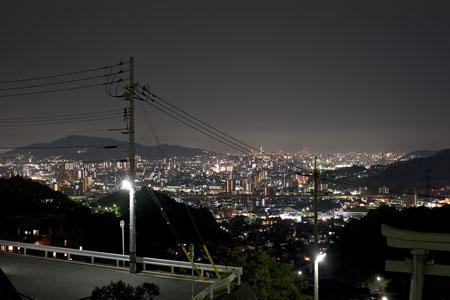 毘沙門台東の夜景