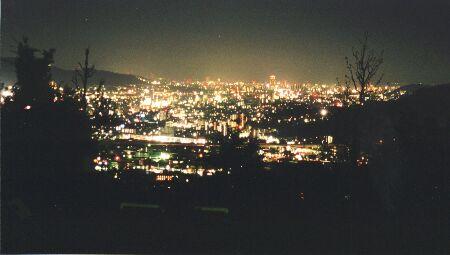 毘沙門台東公園の夜景